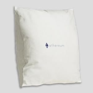 Ethereum Logo Symbol Design Ic Burlap Throw Pillow