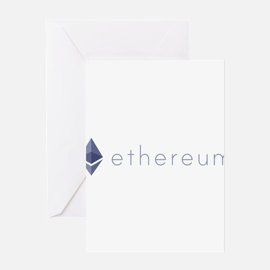 Ethereum Logo Symbol Design Icon Greeting Cards