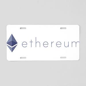 Ethereum Logo Symbol Design Aluminum License Plate