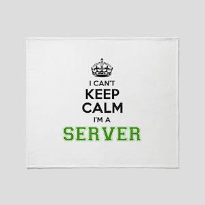 SERVER I cant keeep calm Throw Blanket