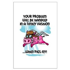 When Pigs Fly Large Poster