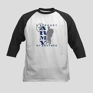 I Support My Bro 2 - ARMY Kids Baseball Jersey