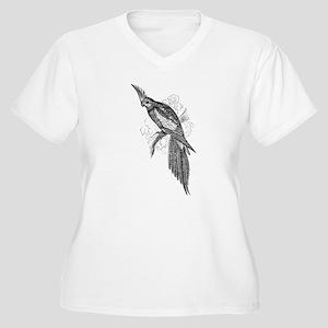 Vintage Parakeet Tropical Bird Plus Size T-Shirt