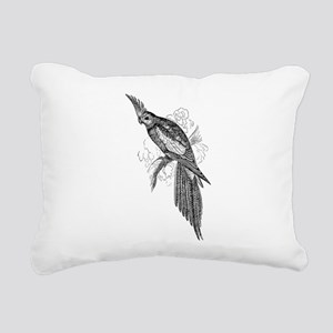 Vintage Parakeet Tropic Rectangular Canvas Pillow