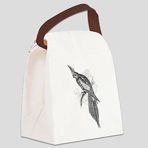 Vintage Parakeet Tropical Bird B Canvas Lunch Bag