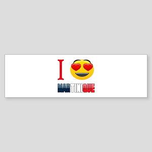 I love Martinique Sticker (Bumper)