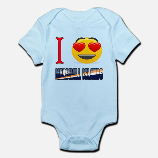 I love Marshall Islands Infant Bodysuit