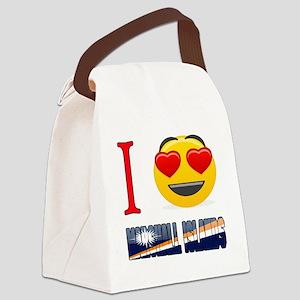 I love Marshall Islands Canvas Lunch Bag