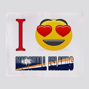 I love Marshall Islands Throw Blanket