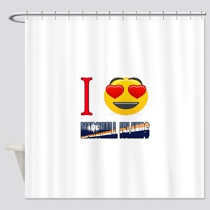 I love Marshall Islands Shower Curtain