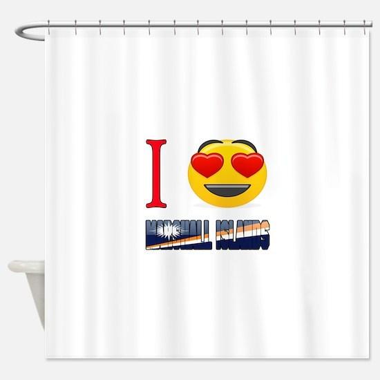 I love Marshall Islands Shower Curtain