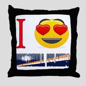 I love Marshall Islands Throw Pillow