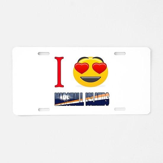 I love Marshall Islands Aluminum License Plate