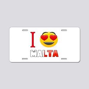 I love Malta Aluminum License Plate