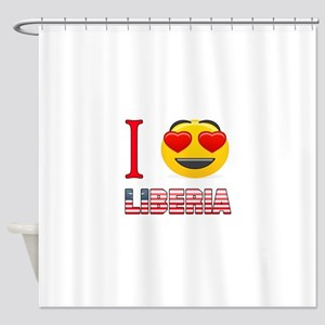I love Liberia Shower Curtain
