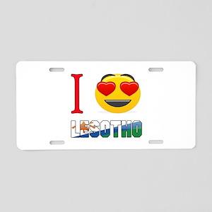 I love Lesotho Aluminum License Plate
