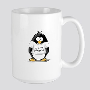 I Love Penguins penguin Mugs