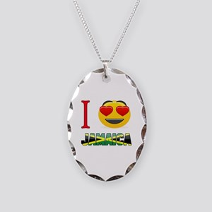 I love Jamaica Necklace Oval Charm