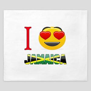 I love Jamaica King Duvet