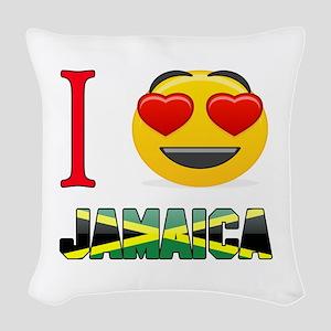 I love Jamaica Woven Throw Pillow