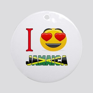 I love Jamaica Round Ornament