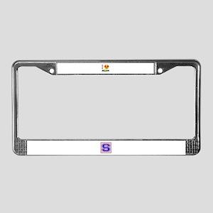 I love Jamaica License Plate Frame