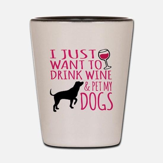 Cute Dogs Shot Glass
