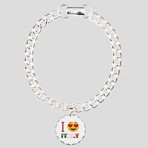 I love Italy Charm Bracelet, One Charm