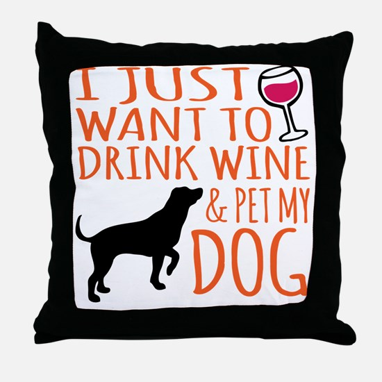Wine and coffee Throw Pillow
