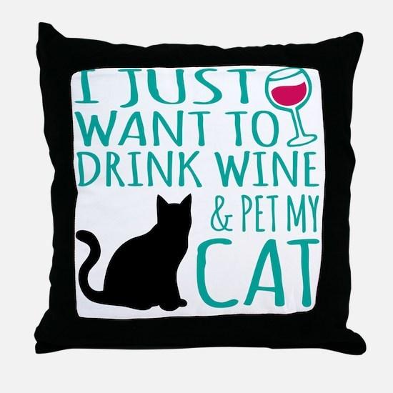 Cute Cat design Throw Pillow