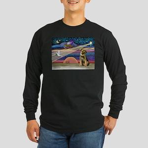 Xmas Star & Border T Long Sleeve Dark T-Shirt