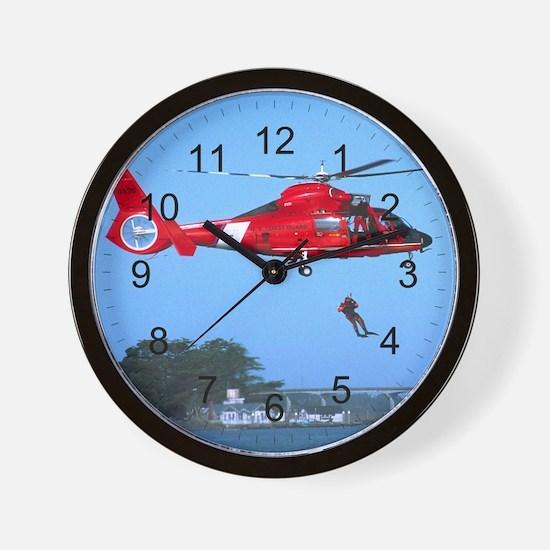 Coast Guard Chopper Wall Clock
