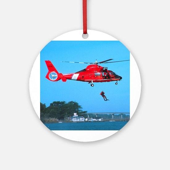 Coast Guard Chopper Ornament (Round)