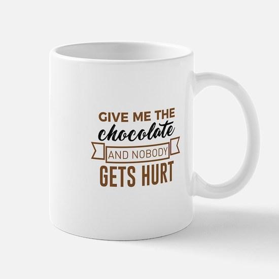 Stay Safe Keep Calm Eat Chocolate Safety Funn Mugs
