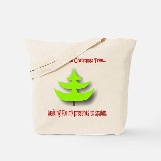 Camping the Christmas Tree Tote Bag
