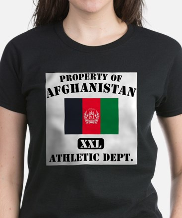 Property of Afghanistan Athle Women's Dark T-Shirt