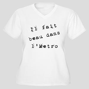 Il fait beau dans l'metro Women's Plus Size V-Neck