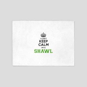 SHAWL I cant keeep calm 5'x7'Area Rug