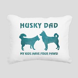 HUSKY DAD Rectangular Canvas Pillow