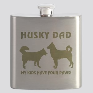 HUSKY DAD Flask