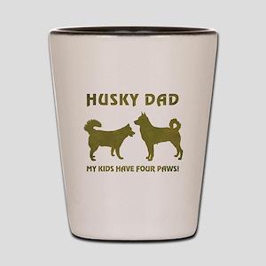 HUSKY DAD Shot Glass
