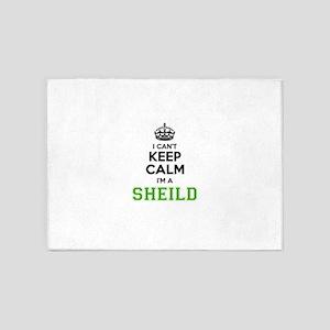 SHEILD I cant keeep calm 5'x7'Area Rug