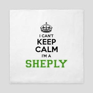 Sheply I cant keeep calm Queen Duvet
