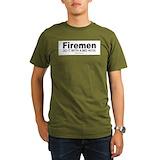Funny fireman Organic Men's T-Shirt (dark)