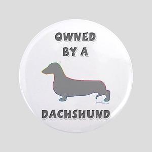 """Dachshund Pewter 3.5"""" Button"""