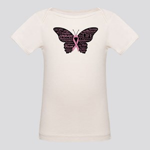 butterfly: breast cancer hope courage T-Shirt