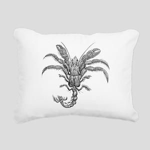 Vintage Hermit Crab Mari Rectangular Canvas Pillow