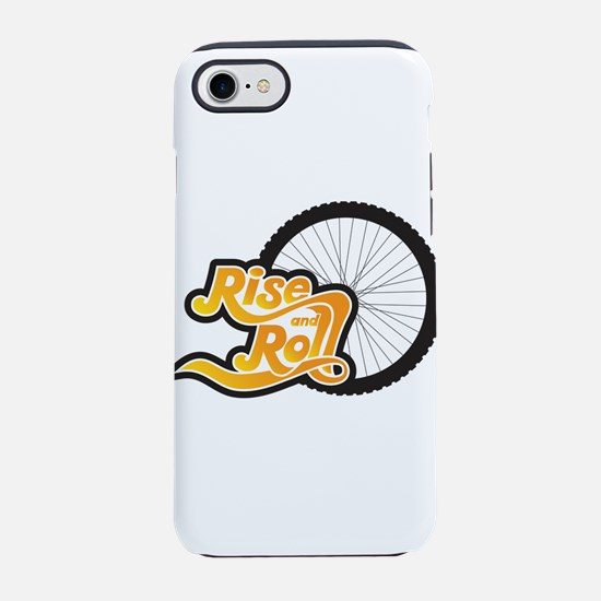 rise and roll bike tire iPhone 8/7 Tough Case