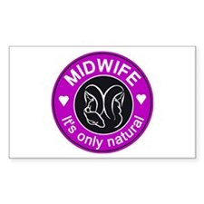 Midwives ~ caring Rectangle Sticker