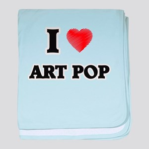 I Love Art Pop baby blanket